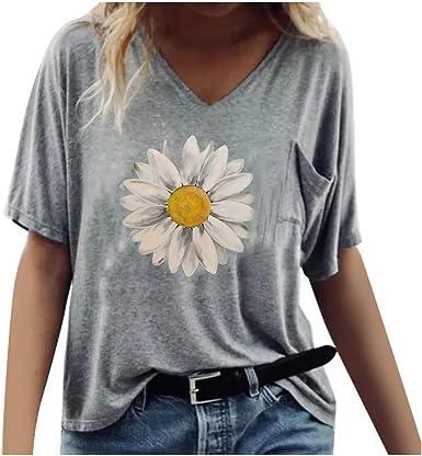 Camiseta Mujer, Verano Moda Manga Corta Casual Talla Grande ...