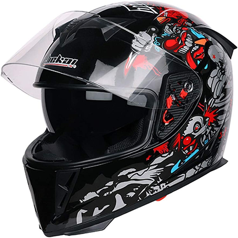 Songlin@yuan Clown Cross Country Mountain Full Face Motorcycle Helmet Classic Bike Racing Helmet Motocross Downhill Bike Helmet Predection