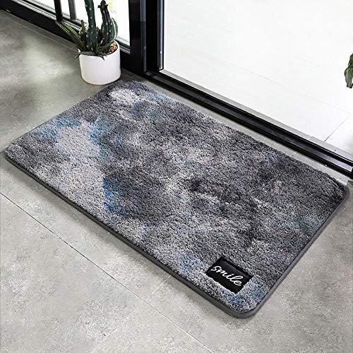 Alfombra Antideslizante para el baño de la habitación, Alfombra Sucia, Gris, 40 × 60 cm