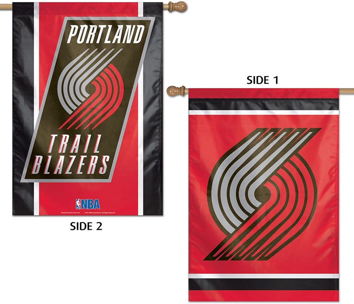 (Portland Trail Blazers)  NBA 2 Sided greenical Flag