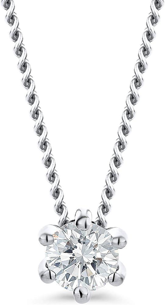 Orovi ciondolo donna con diamante ct. 0,08 catena in oro 18k 750 OR9050N