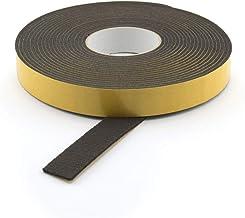 GleitGut Viltband zelfklevend 10 m op rol, vilttape, per meter, zwart, breedte: 25 mm, viltdikte: 3 mm