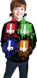 Felpa da Bambino con Cappuccio Unisex Children Youth Castle-Crashers Tops Hoodies Super Teenager Hooded Sweate Sweatshirts for Teen Boys//Girls