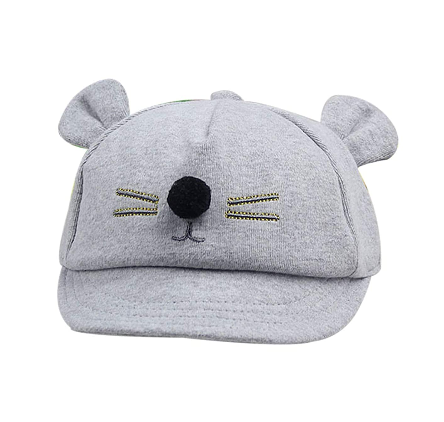 Newborn Baby Toddler Baseball Cap Cotton Hats with Cute Mouse Ears for Boys Girls