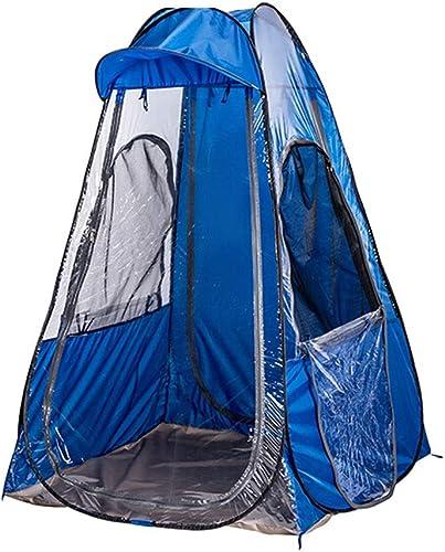 Yunyisujiao Tente Se Pliante Simple épaisse de Tissu de Tissu imperméable à la Pluie Double de Tente extérieure portative Bleue de HWZP appropriée à la pêche extérieure (Couleur   6306220090)