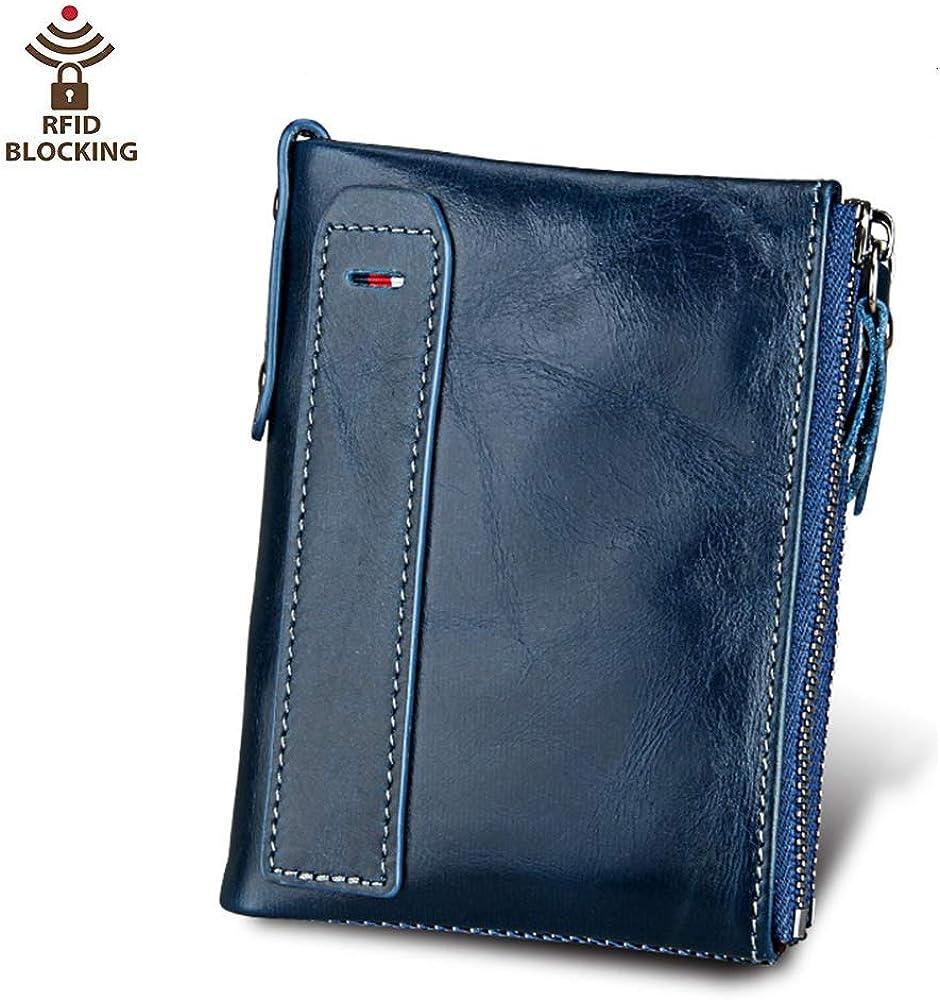 Coopay, mini portafoglio per uomo, piccolo, sottile, verticale, in pelle vera con blocco rfid COOPAYQT0041