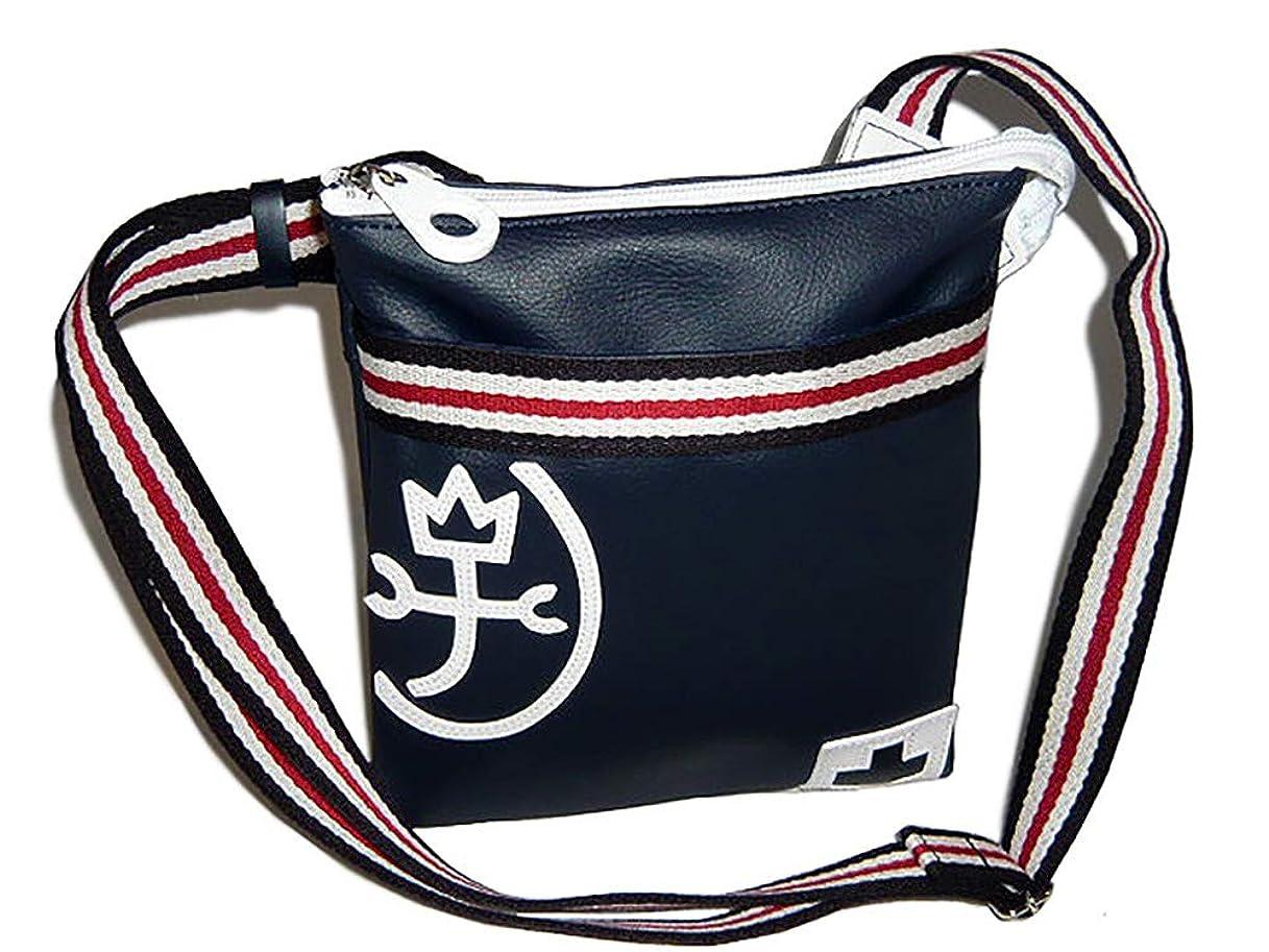 否認する財団錫va-59111_ike CASTELBAJAC(カステルバジャック) 59111 パンセシリーズ 斜めがけバッグ 男女兼用 メンズレディース shoulder bags  レザー/ No.59111 ネイビー(Navy)