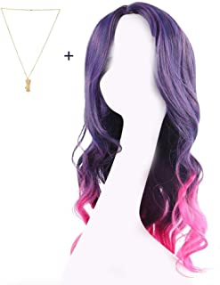Gamora Wig Cosplay Costume Guardians Purple Red Gradient Hair Woman Halloween Wigs
