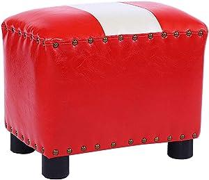 Haushalt pu fußhocker kreative runde gepolsterte osmanen hocker Wohnzimmer Sofa niedrigen hocker platzsparend / 37x24,5x30 cm/max Last 90kg