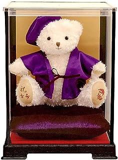 【プティルウ】古希に贈る、紫ちゃんちゃんこを着た福ベア (ケース)古希