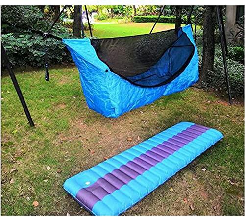 QQW Camping Colgando Haa Al Aire Libre Camping a Prueba de Agua Mosquiteras Tiendas de Campaña de Sombra Del Jardín de Jardín Sofá de Ocio una Haa Que Puede Estar Plana,con Cojín Webp