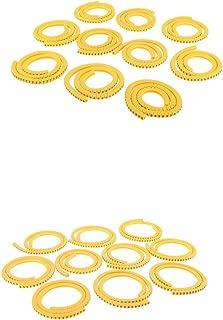 prasku 2000pcs Etiquetas Redondas de Cables Número de Marcador de Cable de gestión No. 0~9 1.5mm² y 2.5mm²