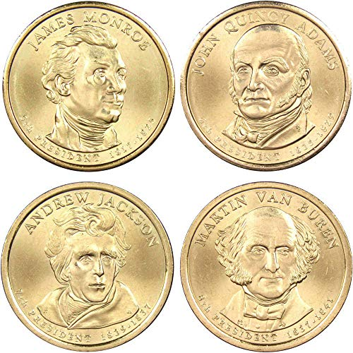 2008 D Presidential Dollar 4 Coin Set BU Uncirculated Mint State $1 Collectible