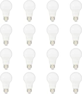 AmazonBasics 75W Equivalent, Soft White, Non-Dimmable, 10,000 Hour Lifetime, A19 LED Light Bulb | 16-Pack