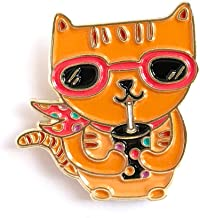 product image for Night Owl Paper Goods Enamel Pin, Gold