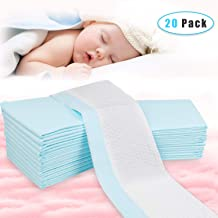 OBloved Disposable Changing Pads for Baby, 20 pack(18L×13W), Leak-proof Breathable Incontinence Diaper Changing Pad,Quick Absorb, and Soft Changing Pad Cover for Bed(Blue)
