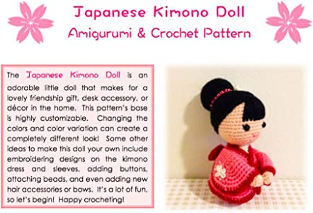 Sweet SoftiesJapanese Kimono Doll - Amigurumi Crochet Art Doll Pattern and Tutorial (English Edition)