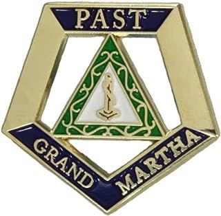 Hattricks Goodimpression OES Eastern Star Past Grand Martha One Inch Jewel Lapel Pin