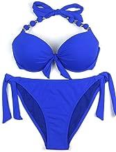 EONAR Womens Removable Padded Push Up Bikini Set Tie Side Swimsuit Swimwear