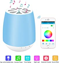 LED Bluetooth Speaker,8Sanlione Smart App Wireless Bluetooth Speaker,Dimmable Control Night Light,Smartphones Touch Control LED Lamp With Wireless Speakers for Children bedroom, Party, Outdoor Camping