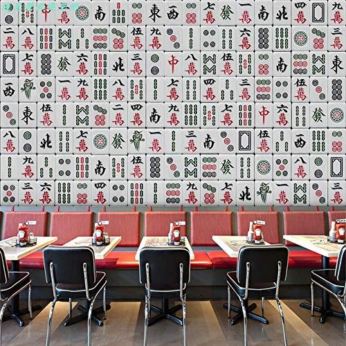 Großes Wandgemälde des kreativen Schachraumdekorationshintergrund- Erholungsraumes der Mahjong-Tapetenkultur des Themas 3D fototapete 3d Tapete effekt Vlies wandbild Schlafzimmer-430cm×300cm