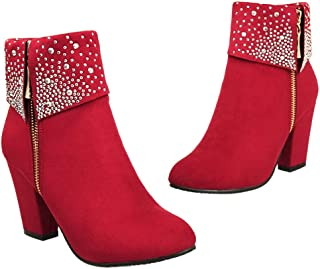 Women Winter Ankle Boots Suede Leather Pointed Toe Ladies High Heel Shoes Casual Snow Booties