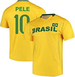 Pele Brazil National Team Replica Jersey - Adult and Youth