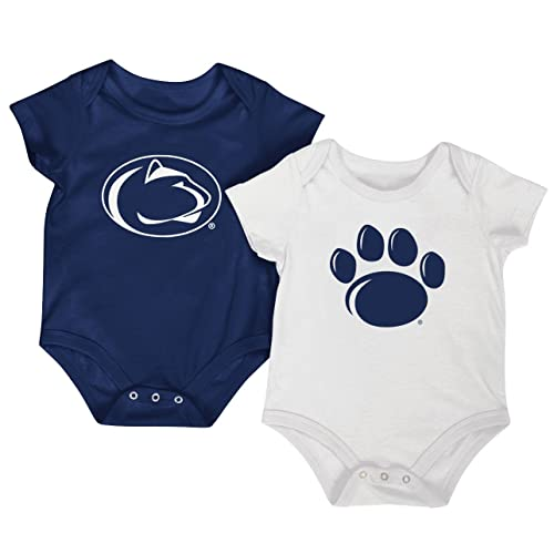 44570ad5b Colosseum NCAA Short Sleeve Baby Bodysuit 2-Pack-Newborn and Infant Sizes