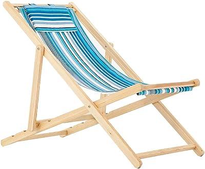 Amazon.com: Sillas reclinables de madera, tumbona para el ...