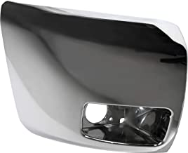 Front Bumper End Compatible with CHEVROLET SILVERADO 1500 2007-2013 RH Chrome Plastic Face Bar Cap with Fog Lamps