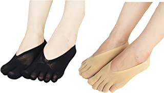 Wechoide Orthopedic Compression Socks Women Toe Socks Ultra Low Cut Liner with Gel Tab Breathable Cloth,Corrects the Defor...
