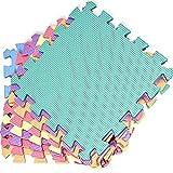 kidoola Foam Baby Play Mat (29x29cm) – Thick & Soft EVA Foam Interlocking Floor Tile Matting for Children – Large Multi Colour, Safe & Comfortable 7mm Thick Play Flooring (18pc)