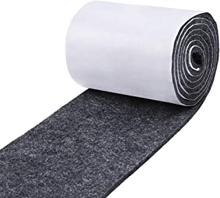 Pllieay 1 Pack Self Adhesive Felt Tape Dark Gray Polyester Felt Strip Roll 3.9 inch Wide x 59 inch Long x 0.15 inch Thick for Protect Furnitures, Hard Surface and Freedom DIY Adhesive