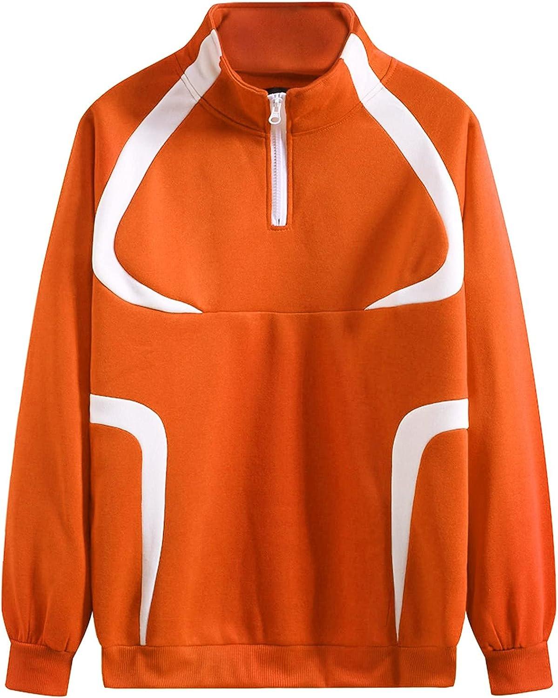 Bolayu Men's Quarter Zip Sweaters Slim Fit Lightweight Cotton Mock Turtleneck Pullover