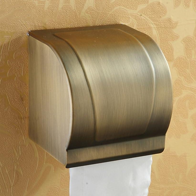 お金ゴム用心する下手アンティーク銅 - トイレットペーパーカートントイレトイレットペーパータオルロールホルダーコンチネンタル防水トイレットペーパーボックス