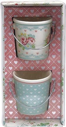 Preisvergleich für GreenGate Eierbecher - Small Egg Bucket - Abelone White - 2er Set