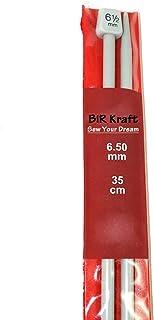 BiR Kraft Lot de 2 aiguilles à tricoter en plastique de 35 cm de long 6,5 mm et 35 cm
