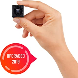 Lilexo Mini Camera - 1080P Small Security Camera - Cop Cam - Mini HD Wireless Nanny Cam with Night Vision & Motion Detection Indoor/Outdoor Portable Covert Camera for Home, Car, Office (2019 Upgrade)