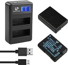 EN-EL14 EN EL14a Battery Charger Pack, LP 2-Pack Battery & LCD Dual Charger, Compatible with Nikon D3500, D5600, D3300, D5...