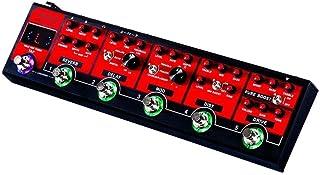 Ouqian-MI Pedal de Efectos de Guitarra 6 en 1 Camión Rojo Efectos de Guitarra Pedal de Guitarra eléctrica multiefecto Pedal de Guitarra Pedal de Efecto de Guitarra Loop Core