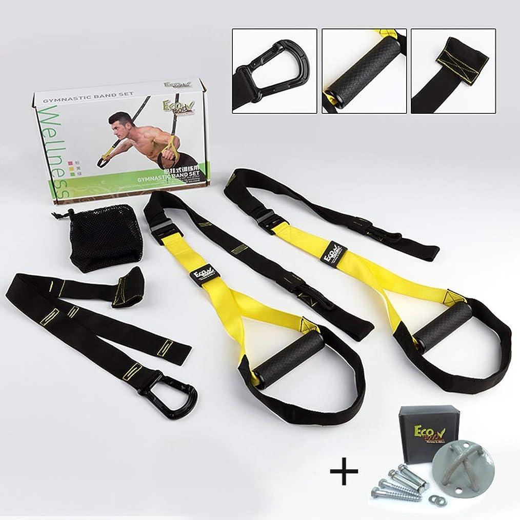 脚本賞我慢するプルロープ男性の胸の抵抗運動家スクワットフィットネス機器と吊り訓練 (色 : Fitness package+fixed disk)