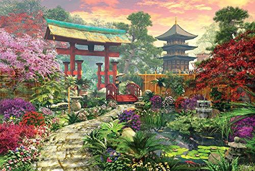 Mural Puzzle 5000 Piezas De Rompecabezas para Adultos, Niños, Jardín Chino, Juego De Habilidades para Toda La Familia