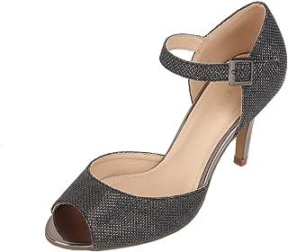 Catwalk Women's Shimmer Ankle Strap Stilettos