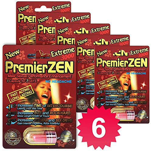 (6-Packs) PremierZen Extreme 3000mg Male Enhancement Pill - Fast US Shipping