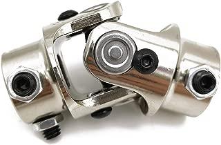 Ensun 3/4-30 Spline x 3/4 DD Nickel Plating Single Steering Shaft Universal U Joint, Maximum Working Angle: 35° Degree, Total Length: 83mm (3-1/4