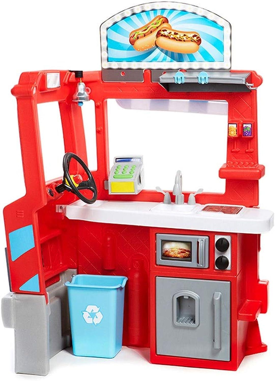 Spielzeugsets Kinderspielzeug für Kinder Kunststoffküchen-Spielset Kinderwagen intelligentes Lernspielzeug für zweijhrige Kinder Geschenke (Farbe   rot, Größe   84  121  53cm)