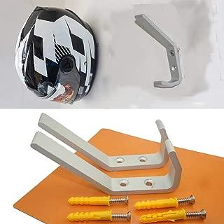 (Pack of 2)Motorcycle Helmet Holder, Jacket Hanger, Motorbike Wall Mount Display Rack Hoook,Wall Mounted Equestrian Helmet Storage Rack,STAINLESS STEEL,with mounting screws(no Helmet)
