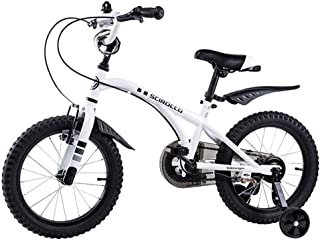 Stroller Child Bicycle Bicycle Learning Mountain Bike boy Girl Road Riding with Auxiliary Wheel (Color : White, Size : 12inches)