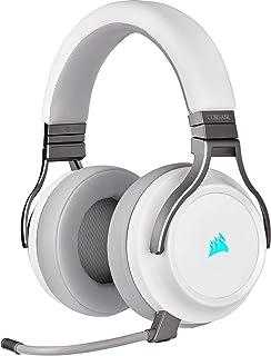 Corsair CA-9011186-AP Virtuoso RGB Wireless High-Fidelity Gaming Headset, 7.1 Surround Sound, Broadcast-Grade Omni-Directi...
