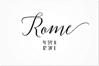 Noir Gallery Rome, Italy Coordinates Typography 16